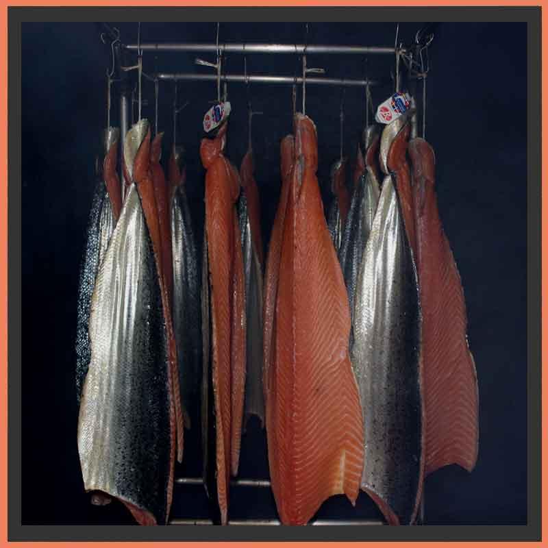 le fumage des saumon