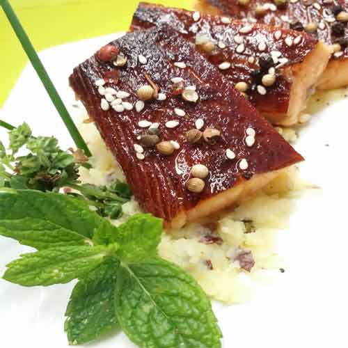 Baron de saumon fumé à chaud : FLAKY