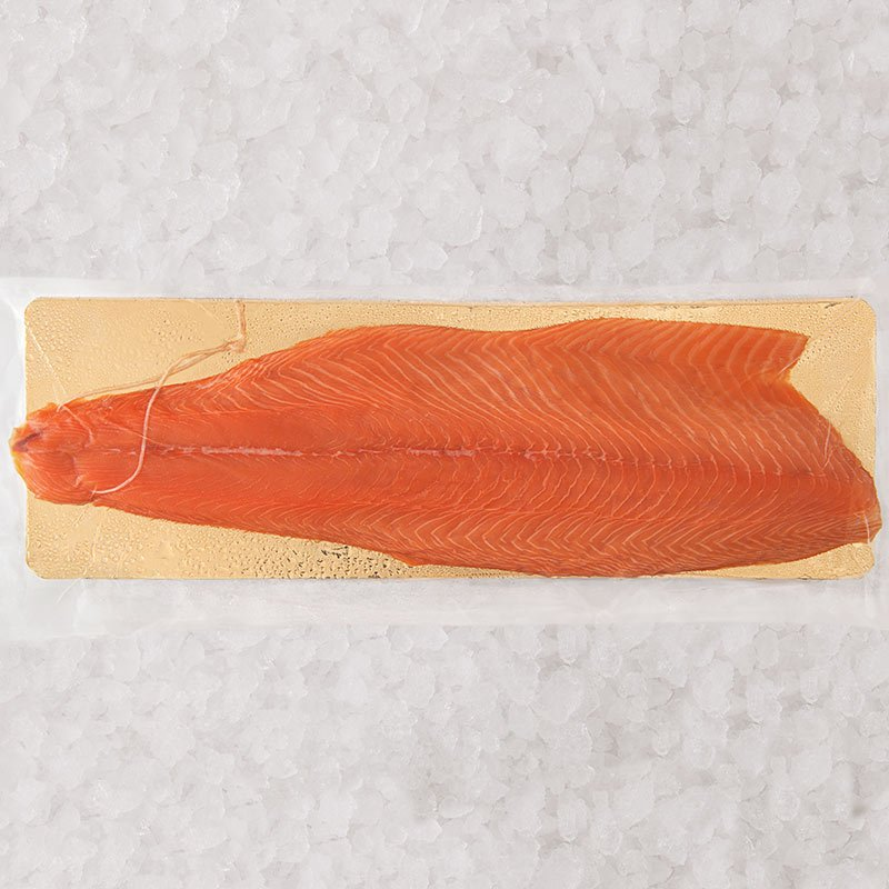 Filet de saumon fumé 20 tranches mini élevé à Cherbourg
