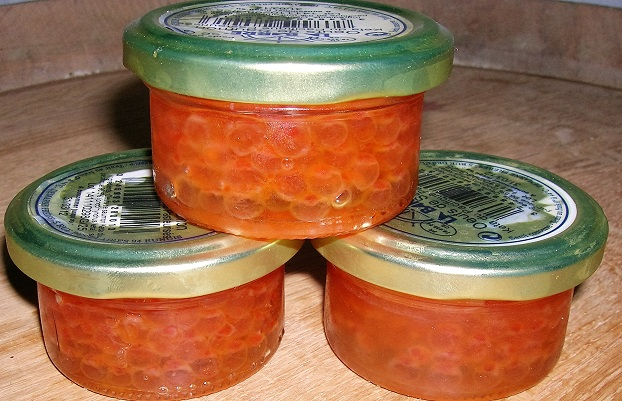 Oeufs de saumon sauvage en verrine