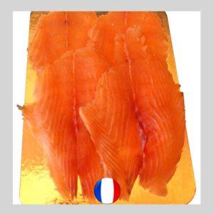 Saumon fumé de France, élevé à Cherbourg