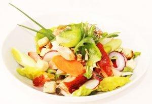 Salade Fantaisie Flaky et tome de brebis