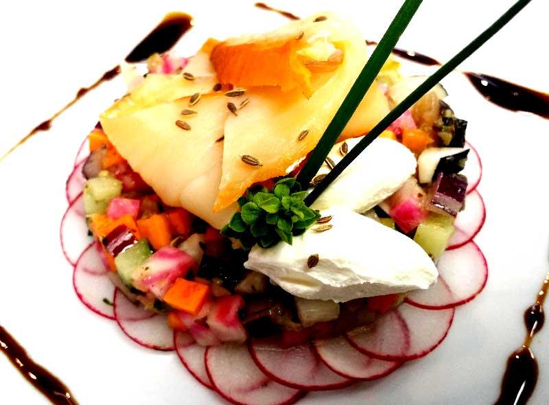 Salade de Crudités Russe et Haddock