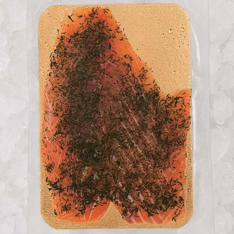 Saumon gravlax à l'aneth 4 tranches