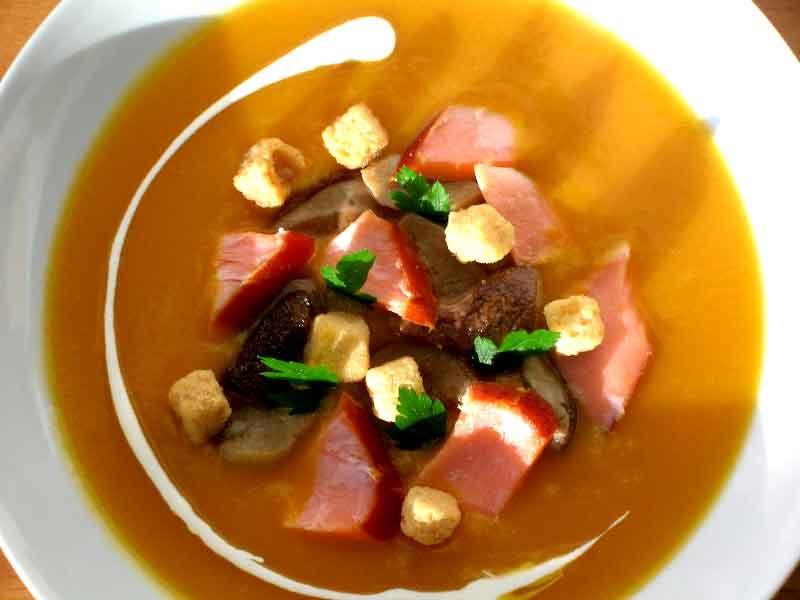 Saumon flaky, et potage de saison