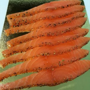 émincés de saumon gravlax